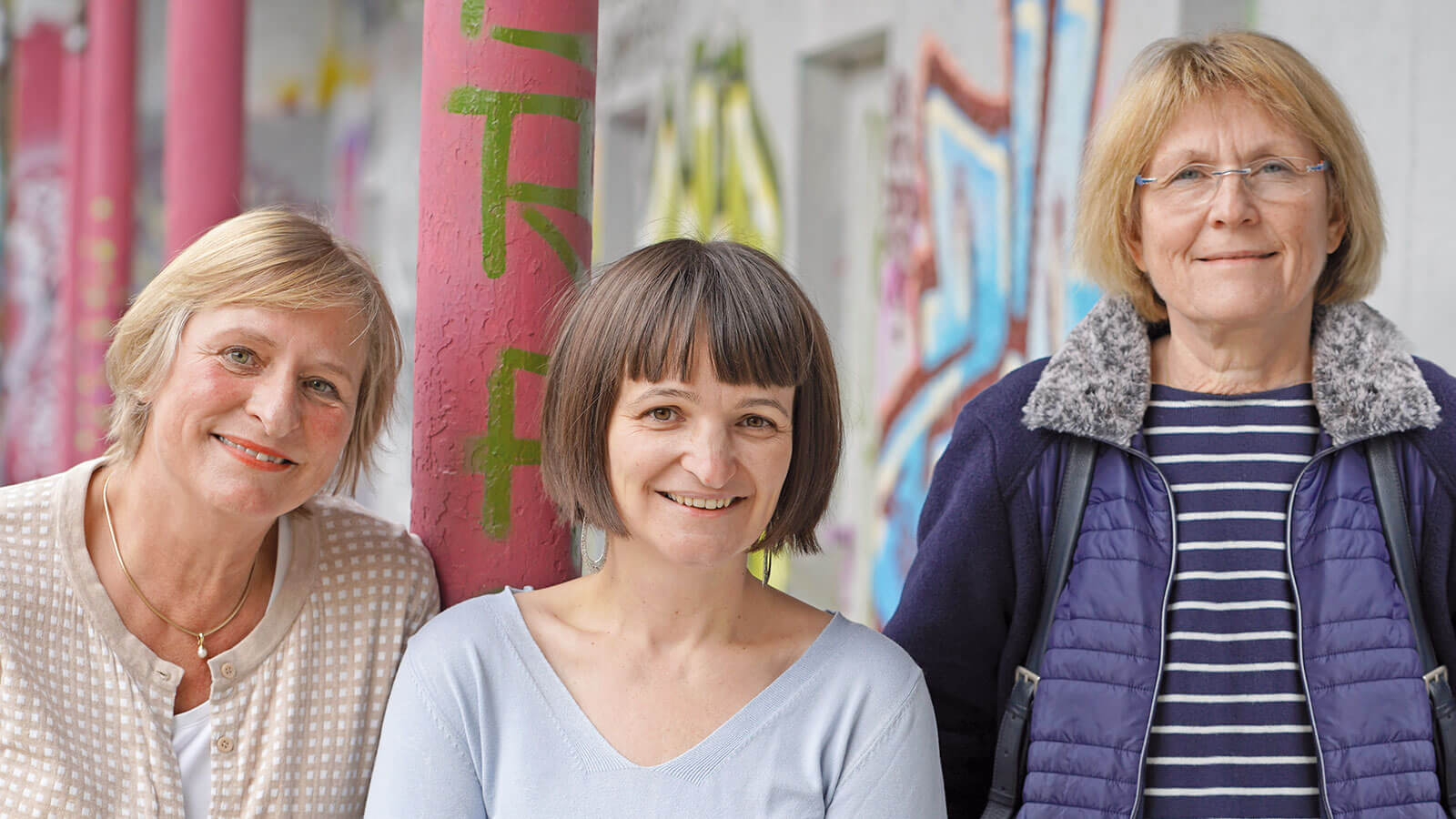 Tina Braun, Enikö Nagy, Astrid Baierl, Stefanie Langner, Frauenhaus Weiden